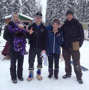Snowshoe biathloners from Ulukhaktok