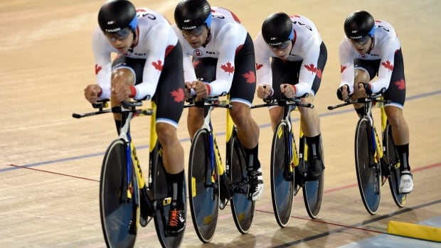 Canada's men's endurance team won a bronze medal in the team pursuit event at the 2015 Pan Am Games in Toronto.