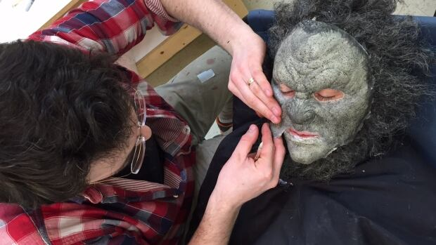 Actor Leo Fafard transforms into the Wolfcop, part small-town police officer Lou Garou and part wolf.