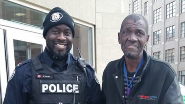 Regent Park community officer Ed Parks reunited with the man he bought lunch after discovering he had diabetes and was in need of food.