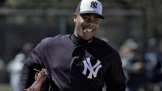 Yankees closer Aroldis Chapman issued an apology Wednesday for his use of a gun during an Oct. 30 domestic incident with his girlfriend. Chapman said there was an argument but he was pushed down by the brother of his girlfriend Cristina Barnea, then got a handgun and fired eight shots into a wall and window while locked in his garage. Prosecutors declined to file charges, citing conflicting accounts.