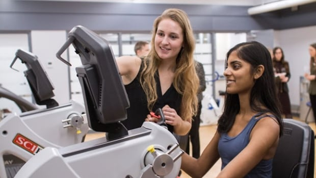 Students using some of the equipment at the U of T's Mental Health and Physical Activity Research Centre, which will study the link between mental and physical health.