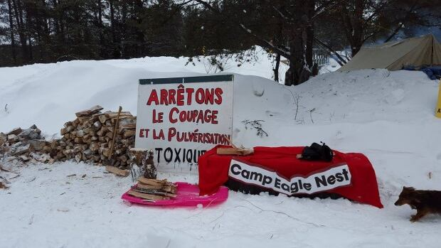 Signs at Camp Eagle Nest