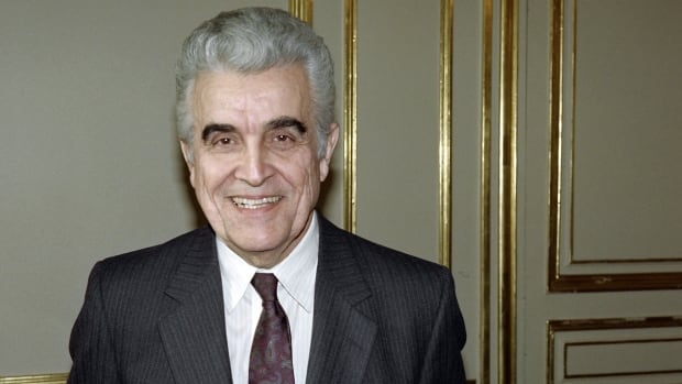 French-born historian, literary critic and social sciencist René Girard is shown in Paris in this 1990 file photo. Girard died on Nov. 4, 2015 at 91.