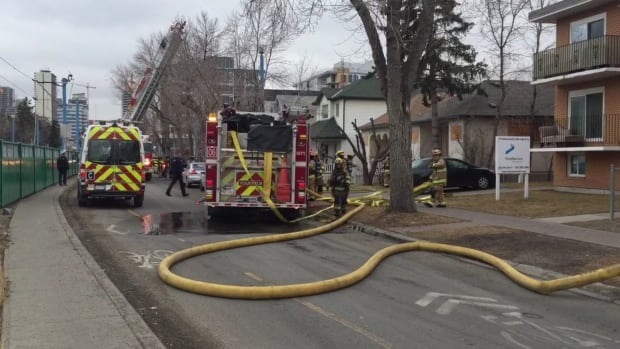 Calgary fire responded to a call on 9A Street N.W. Wednesday afternoon
