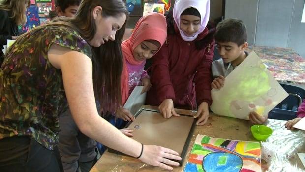 Syrian refugee art day