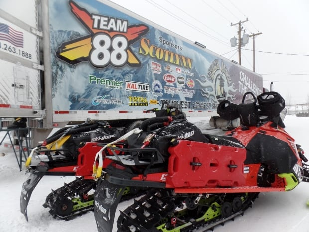 Cain's Quest 2016 Team Southern Snow Riders tractor trailer
