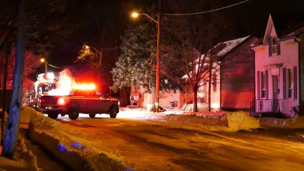Three people were injured after a house fire in Brampton on Wednesday night.