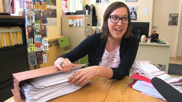 Émilie Guimond-Bélanger, a social worker at the Droit Devant legal clinic, said the $110,000 worth of fines given to a homeless man is the highest she's ever seen.