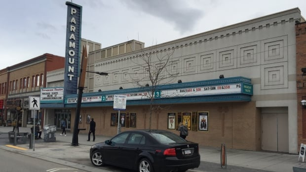"Kelowna's Paramount Theatre. The current tenant, Landmark Cinemas, says the owner wants to redevelop it as a restaurant ""immediately."""