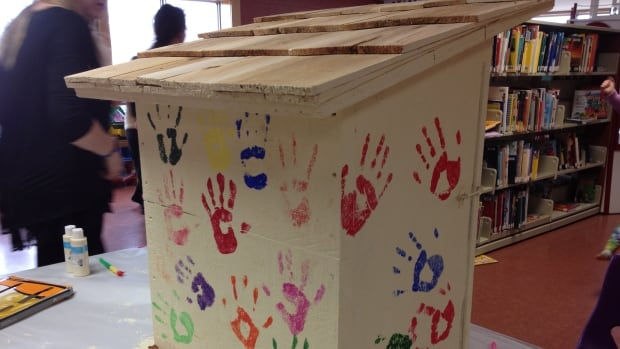 The Boys and Girls Club in Montague made sure to leave their handprints all over their library — literally.