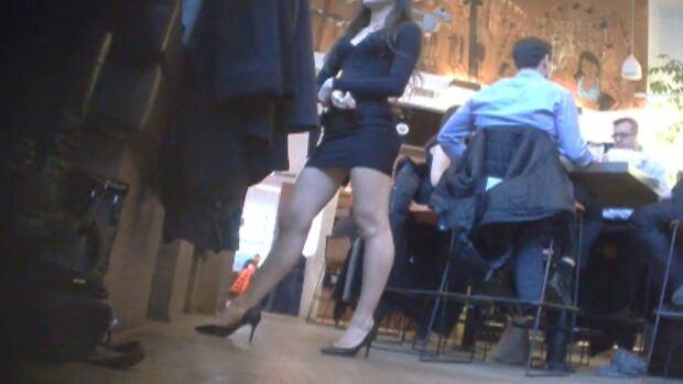 Short skirts, high heels, better service?