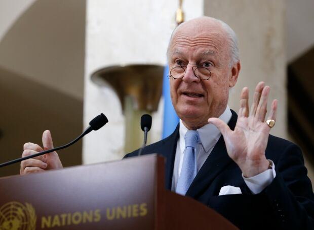 SYRIA-UN envoy Staffan de Mistura March 3 2016