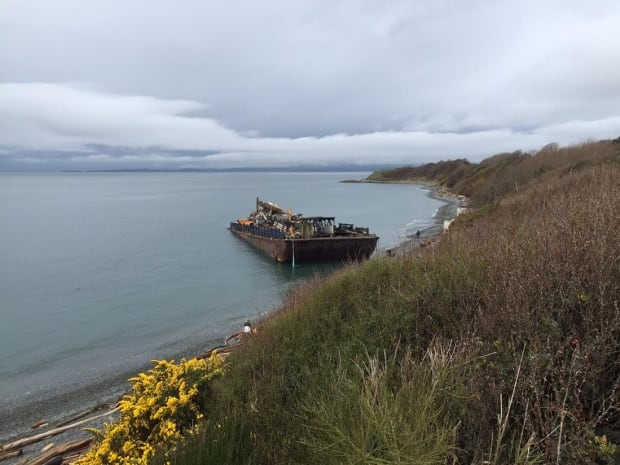 Victoria barge aground