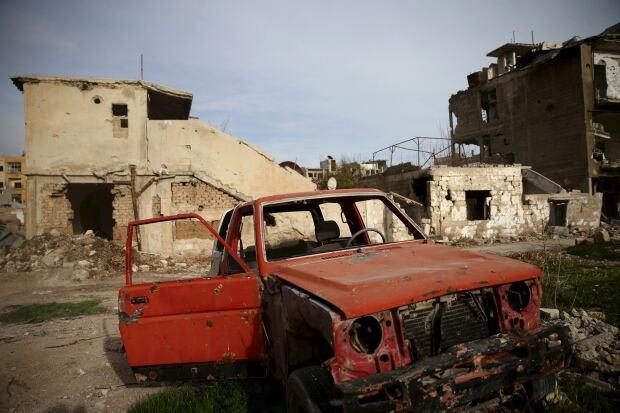 Jobar neighbourhood of Damascus damage March 2 2016