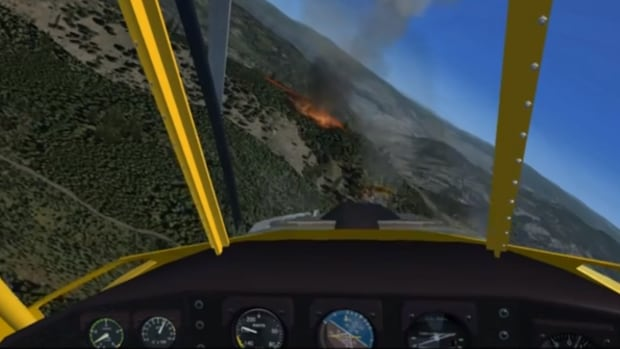 A B.C. aviation company and CAE are bringing a flight simulator to the province to help firefighter pilots practice putting out forest fires.