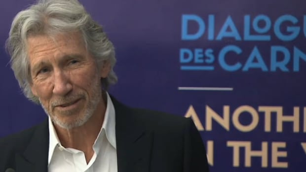Roger Waters addresses a news conference for the Opera de Montreal's 2016-2017 season.