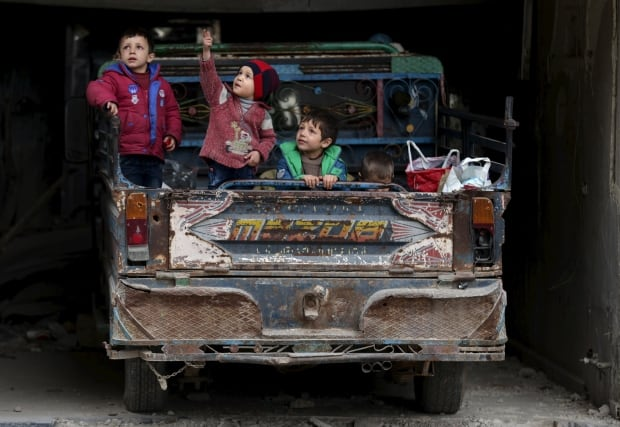 syria civil war ceasefire Douma Damascus March 2 2016