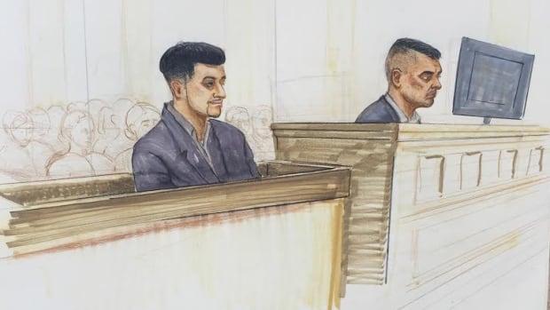 Gursimar Bedi  (left) Gurjinder 'Gary' Dhaliwal (right) in court, Thursday, March 3, 2016.