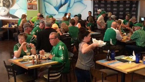 Fans of the Saskatchewan Roughriders got together in Arizona, ahead of an NHL game, Thursday.