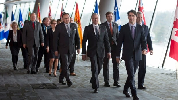 Prime Minister Justin Trudeau and Canada's premiers emerged apparently united after the First Ministers Meeting in Vancouver, B.C., Thursday. But while the final declaration talks about carbon pricing, it may still be just that for some provinces - more talk.