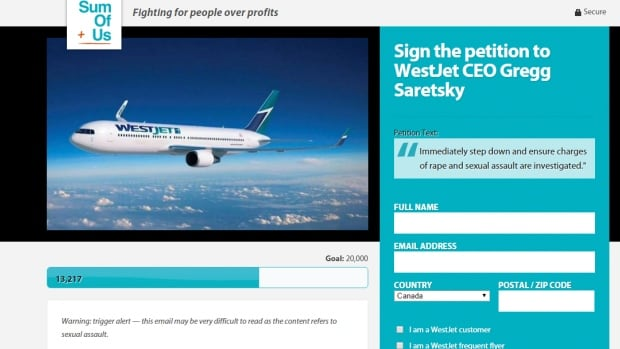 Corporate accountability advocate Some of Us started a campaign on Thursday morning calling for the resignation of WestJet's CEO.