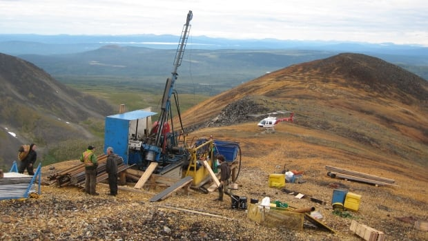 A diamond drilling rig on the tundra. This photograph was included among Tundra Copper Corp.'s application documents gathered by the Nunavut Impact Review Board last spring.