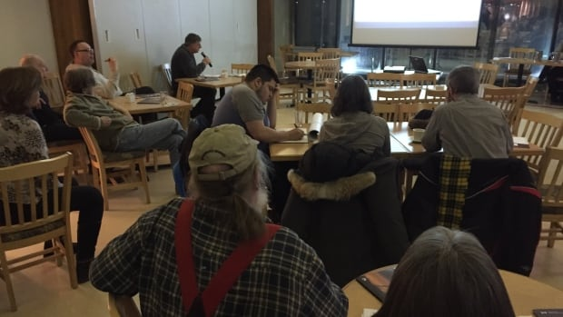 Several people gathered in Yellowknife last night for the Giant Mine Remediation Project's annual public forum.