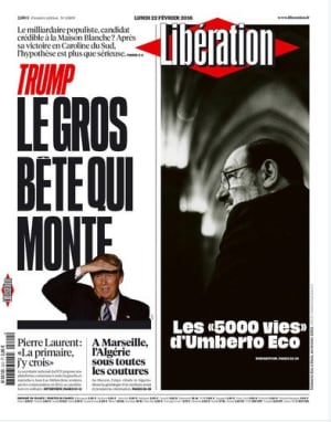 Trump on cover of Liberation