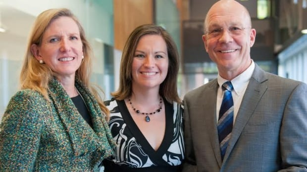 Dr. Kathleen Carroll of Yale Medical School with Dr. Michelle Patterson and Dr. Juergen Krause of UPEI.