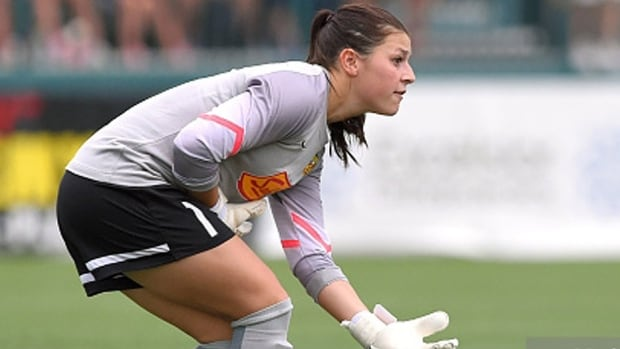 Sabrina D'Angelo posted a shutout in Canada's 1-0 win over Belgium on Friday at the Algarve Cup in Vila Real de San Antonio, Portugal. Summer Clarke notched the lone goal for Canada, which lost its opener 1-0 on Wednesday to Denmark. Canada wraps up pool play Monday against Iceland.