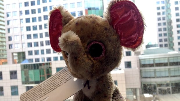 Ryan the Beanie Baby was found in the schedule box at Roncesvalles' Revue Cinema.