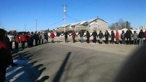 suicide prevention walk Pimicikamak Cree Nation