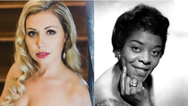 Vancouver songstress Jaclyn Guillou (left) has released This Bitter Earth, a tribute to American jazz legend Dinah Washington (right)