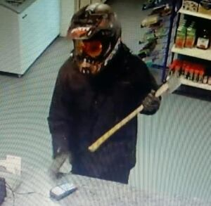 Man wielding axe in HVGB