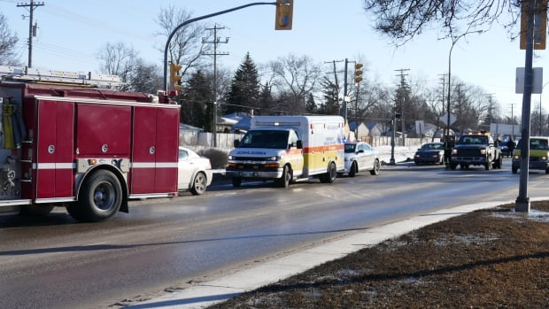 Four vehicles collided Monday morning on Fermor Avenue just west of Beaverhill Boulevard.