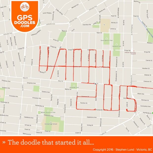 Stephen Lund GPS doodles 1