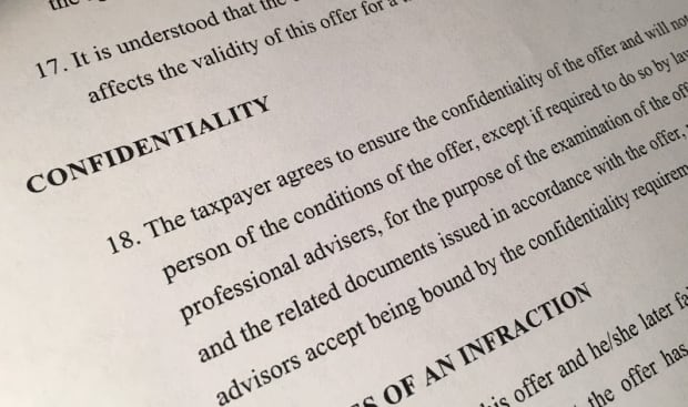 CRA confidentiality clause