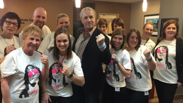 Bret Hart is selling these T-shirts online, with a portion of the proceeds going back to Calgary's Prostate Cancer Centre.