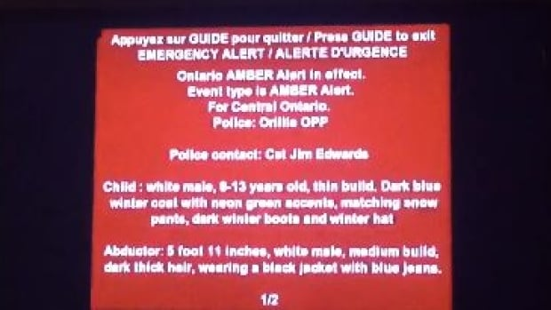 OPP used the new Amber Alert program for the first time Sunday night.