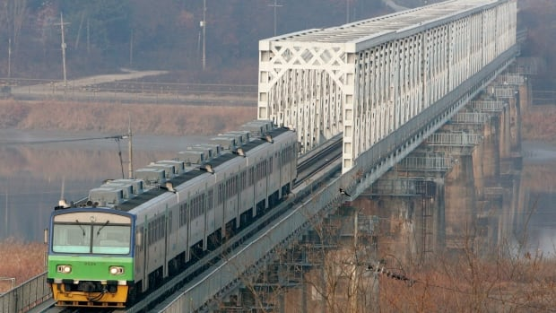 A train bound for Seoul from the Dorasan railroad station, which is the nearest South Korean station with the North, near the demilitarized zone, is shown in a file photo.