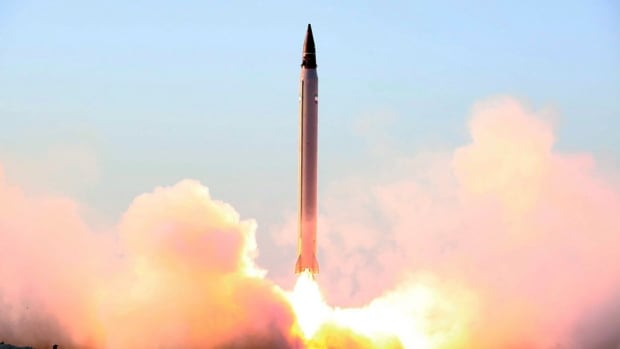 This photo released by the Iranian Defence Ministry in Oct. 2015, claims to show the launching of an Emad long-range ballistic surface-to-surface missile. Iran said it fired several ballistic missiles Tuesday during a military exercise.