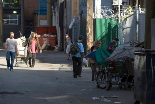 homeless Vancouver downtown eastside