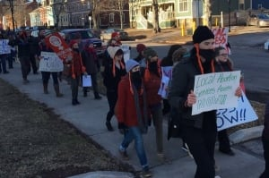 60 to 70 pro-choice activists march through Charlottetown