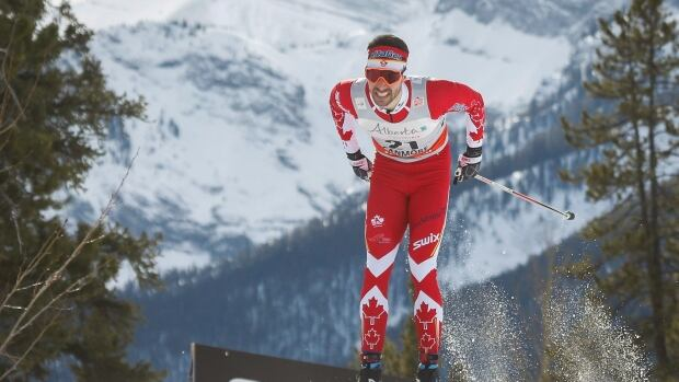 Canada's Alex Harvey dropped from fourth to fifth in the overall standings of Ski Tour Canada when he was eliminated in the quarter-final round of Tuesday's classic sprint in Canmore, Alta.