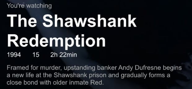 Shawshank Netflix