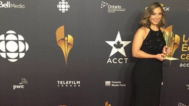 Andi Petrillo of CBC Sports won a Canadian Screen Award for best host in a sports program or series for her work on Pan Am Afternoon, CBC-TV's program on the 2015 Toronto Pan Am Games.
