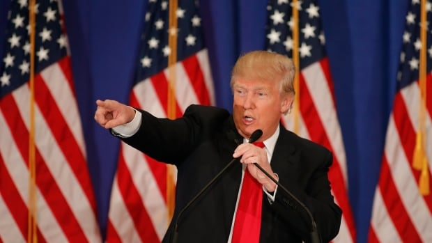 Republican U.S. presidential candidate Donald Trump speaks about the results of the Michigan, Mississippi and other primary elections during a news conference held at his Trump National Golf Club in Jupiter, Florida, on March 8.