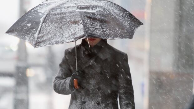 New Brunswickers will need their umbrellas on Wednesday as mixed precipitation is expected throughout the day beginning with snow and ending with rain according to CBC meteorologist Peter Coade.