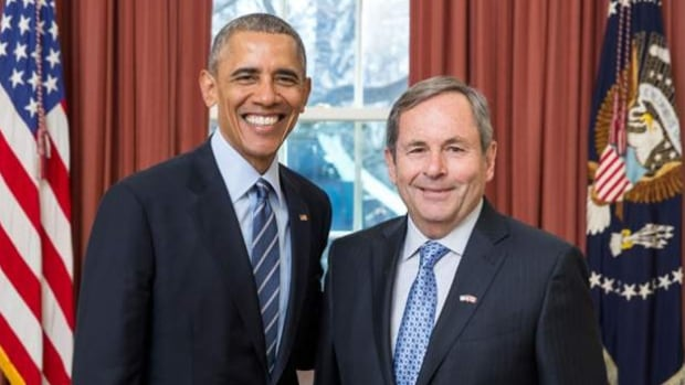 David MacNaughton, right, is Canada's new ambassador to the U.S. He was a lobbyist before being appointed by Prime Minister Justin Trudeau as his representative in Washington.